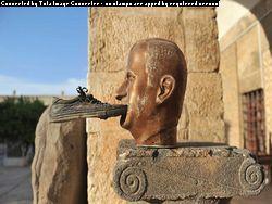 В городе у ГЭС Аль Фурат боевики сожгли памятник Асаду