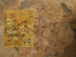 Туристы закрасили доисторические фрески Египта портретом Боба Марли