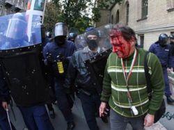 Разогнана антиправительственная демонстрация в центре Будапешта