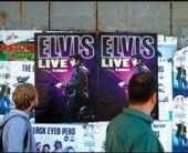 Живой концерт Элвиса Пресли — реклама медицинской клиники хорошего зрения в Бухаресте