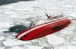 Канадское круизное судно Explorer затонуло в водах Антарктики (фото)