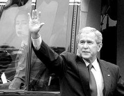 Джордж Буш мирит Израиль и Палестину, а Махмуд Ахмадинежад обличает сионистский режим