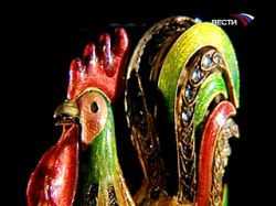 Яйцо работы Карла Фаберже из коллекции семьи Ротшильдов - Золотой петушок - будет выставляться в России