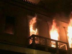 Названа предварительная причина пожара в Грозном