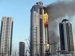 "Пожар в ""Грозном-Сити"" потушен"