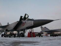 Авиагруппа МиГ - 31БМ заступила на охрану
