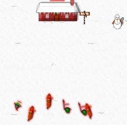 Новогодняя флэшка: Домик Санты