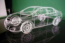 Проволочная Toyota Corolla от художника Бенедикта Редклиффа (фото)