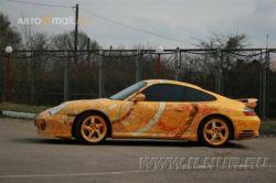 Фактурная аэрография на Porsche (фото)