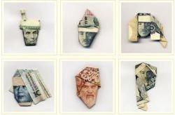 Moneygami - оригами из денег (фото)