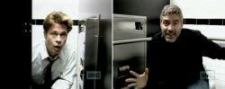 Джордж Клуни и Бред Питт поздравили Джулию Робертс из туалета (видео)