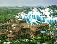 Курорт в Техасе обложит ворсистый снег