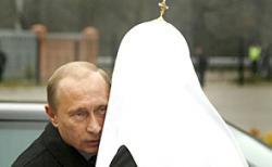 Кремлевский Патриарх Всея Руси Алексий Второй благословил связку Медведева-президента и Путина-премьера