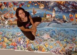 Крупнейший в мире puzzle из 24000 частей