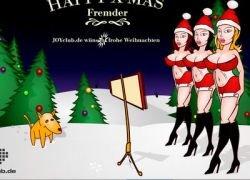 Новогодняя флэшка: Помоги Санте нарисовать фигуру на снегу