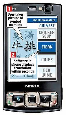 Nokia разрабатывает приложение, способное распознавать и переводить знаки и надписи на иностранных языках