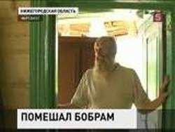 Старика, мешавшего бобрам, выжили из дома