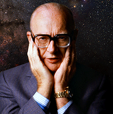 Британский писатель Артур Кларк получил медаль Федерации космонавтов России