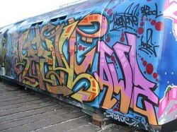 Граффити на лондонских поездах (фото)