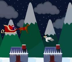 Новогодняя флэшка: Сбиваем снежных птиц