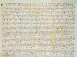 Список Великой хартии вольностей продан на аукционе Sotheby\'s за 21,3 миллиона долларов