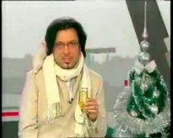 Владимир Тишко на съемках новогодней программы испугался крысы (видео)
