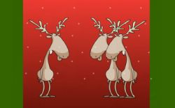 Новогодняя флэшка: Поющие олени