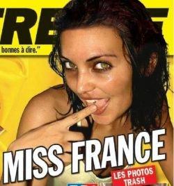 """Устроители конкурса \""""Мисс Франция\"""" требуют от победительницы 2008г. Валери Бег вернуть корону из-за вызывающих фотографий (фото)"""