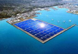 Новость: В Японии запустили плавающую солнечную электростанцию
