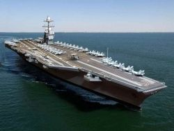У американского авианосца выявлены серьезные дефекты