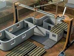 Гигантский 3D принтер построит дом за 24 часа