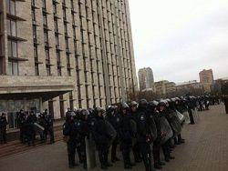 В Донецке эвакуировали захвативших администрацию активистов