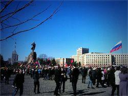 Новость на Newsland: Жители Харькова и Донецка потребовали провести референдум