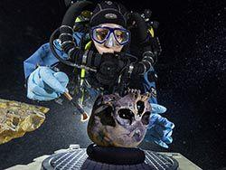 Ученые обнаружили 12000-летний скелет в подводной пещере