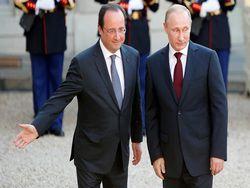 Путин и Олланд обсудили ситуацию в Украине