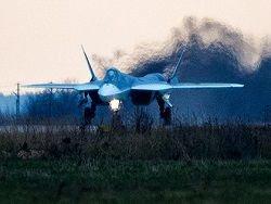 Истребитель пятого поколения Т-50 загорелся при посадке