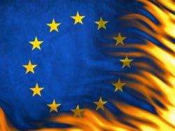Новость на Newsland: Испанские фермеры сожгли флаг ЕС