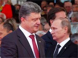 Новость на Newsland: Порошенко и Путин проводят двухстороннюю встречу в Минске