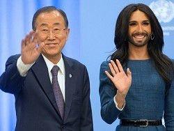 Новость на Newsland: Кончита Вурст спела для Пан Ги Муна