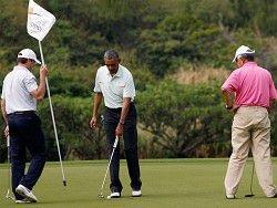 Новость на Newsland: Премьер играл в гольф во время наводнения