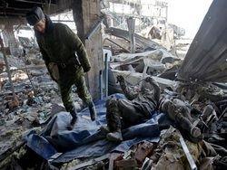 На 27 февраля в донецком аэропрту найдено 76 тел солдат