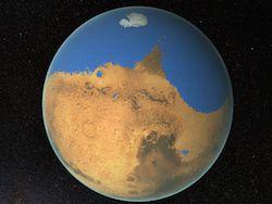 Ученые рассказали о гигантском океане на древнем Марсе