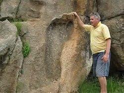 В Африке нашли метровый след ноги человека-великана