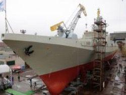"""Новый фрегат """"Адмирал Макаров"""" готовят к спуску на воду"""