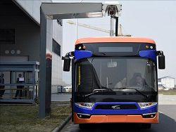В Китае появились электроавтобусы работающие на зарядке