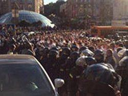 Украинские и польские болельщики набросились на киевскую милицию