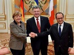 Порошенко, Меркель и Олланд: сценарий спасения Донбасса
