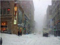 В Канаде выпал снег