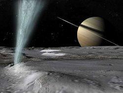 Кассини 28 числа пройдет через водяные гейзеры Энцелада