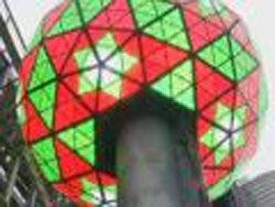 Нью-Йорк: новогодний шар на Таймс-сквер обновили